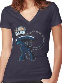 My Little Alien Women's Fitted V-Neck T-Shirt