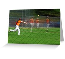 At the Ball Game Greeting Card