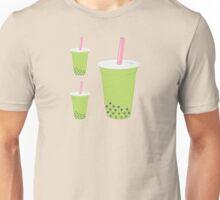 Matcha Bubble Tea Pattern Unisex T-Shirt