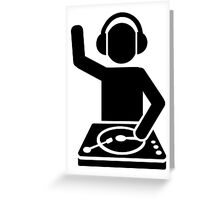 DJ Turntables headphones Greeting Card