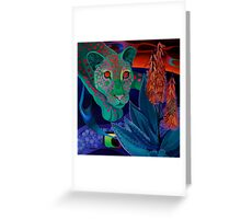 """""""Night Whispers""""(Original is in private collection) Greeting Card"""