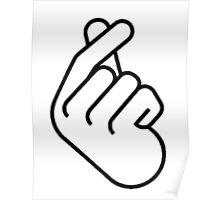 Korean Finger Heart Ver. 2 Poster