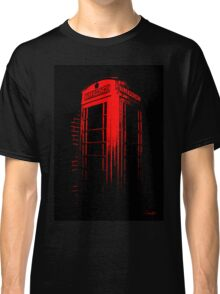Telephone Booth Red Ink Classic T-Shirt