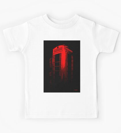 Telephone Booth Red Ink Kids Tee