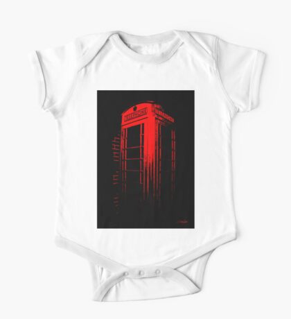 Telephone Booth Red Ink One Piece - Short Sleeve