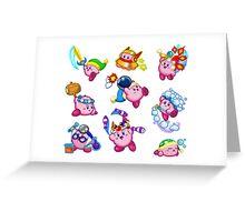Kirby Abilities Sticker Sheet Greeting Card
