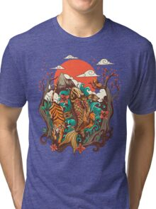 autumn sunset Tri-blend T-Shirt