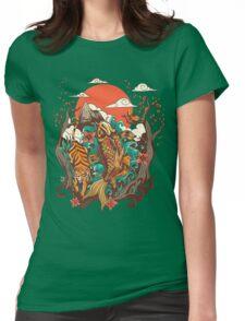 autumn sunset Womens Fitted T-Shirt