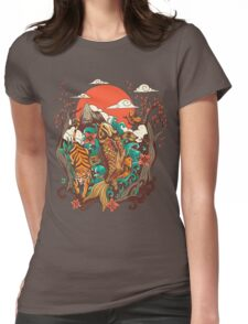 autumn sunset Womens Fitted T-Shirt