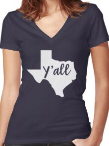Y'all Texas Women's Fitted V-Neck T-Shirt