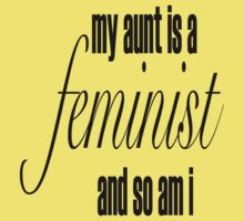 my aunt is a feminist Baby Tee