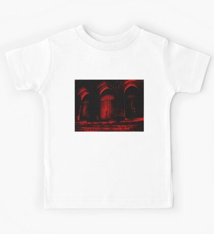 Church Doors in Red Ink Kids Tee