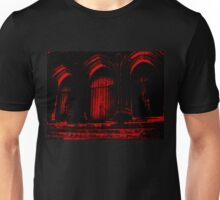 Church Doors in Red Ink Unisex T-Shirt