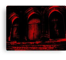 Church Doors in Red Ink Canvas Print
