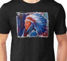 Native American Chief Oil Splash Unisex T-Shirt