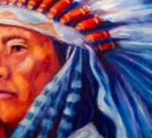 Native American Chief Oil Splash Sticker