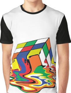 Melting Cube Graphic T-Shirt