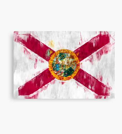 Florida State Flag Graphic USA Styling Canvas Print