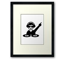 Dj party music Framed Print