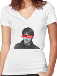 Shane Dawson's NOT COOL movie Women's Fitted V-Neck T-Shirt