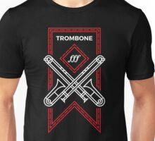 Trombone - White & Red Unisex T-Shirt