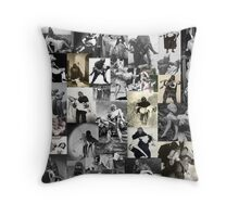 Monsters Carrying Women Throw Pillow