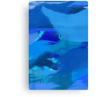 Blue Brush Strokes Canvas Print