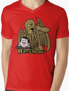 H.P. and Cthulhu Mens V-Neck T-Shirt