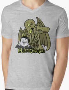 H.P. and Cthulhu Mens V-Neck T-Shirt