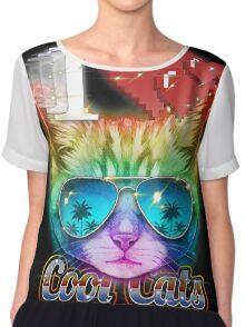 I <3 Cool Cats Chiffon Top