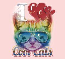 I <3 Cool Cats Kids Tee