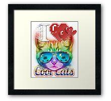 I <3 Cool Cats Framed Print