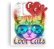I <3 Cool Cats Canvas Print