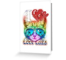 I <3 Cool Cats Greeting Card