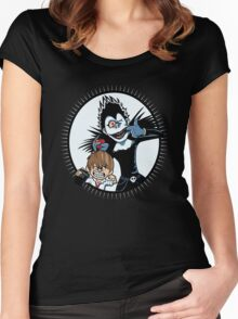 Light & Ryuk Women's Fitted Scoop T-Shirt