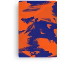 Brush Strokes (Complementary Colors) Canvas Print