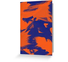 Brush Strokes (Complementary Colors) Greeting Card