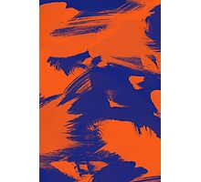 Brush Strokes (Complementary Colors) Photographic Print