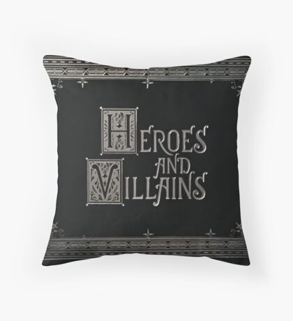 Once Upon a Time - Heroes and Villains (Large Text) Throw Pillow