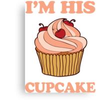 Im His Cupcake 2/2 Canvas Print