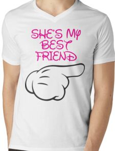 She's My Best Friend 2/2 Mens V-Neck T-Shirt