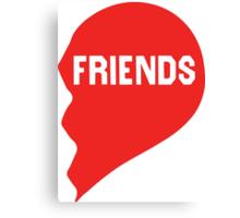 Best Friends Heart 2/2 Canvas Print