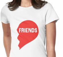Best Friends Heart 2/2 Womens Fitted T-Shirt