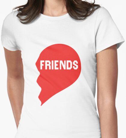 Best Friends Heart 2/2 Womens Fitted T-Shirt