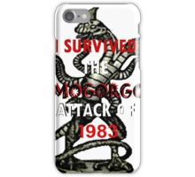 I SURVIVED THE DEMOGORGON ATTACK OF 1983 iPhone Case/Skin
