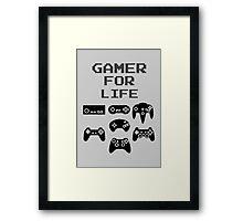 Gamer For Life ( Prints, Cards & Posters) Framed Print