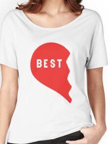 Best Friends Heart 1/2 Women's Relaxed Fit T-Shirt