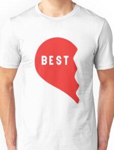 Best Friends Heart 1/2 Unisex T-Shirt