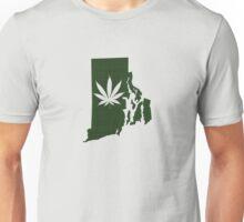 Marijuana Leaf Rhode Island Unisex T-Shirt