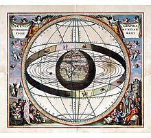 Signs of the Zodiac - Scenography of the Ptolemaic cosmography  Photographic Print